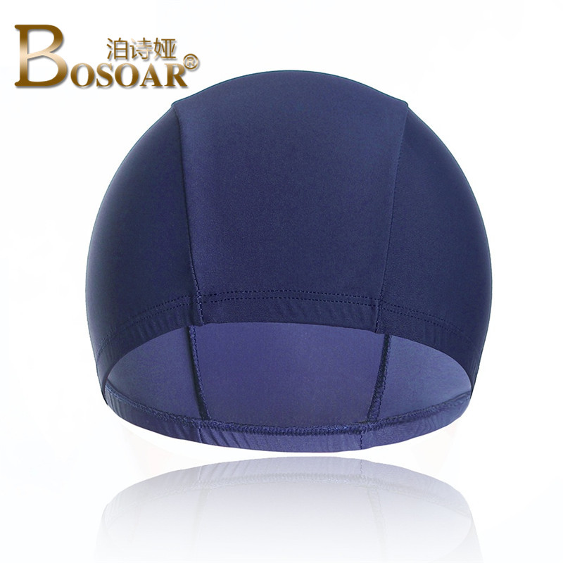2016 summer new men's bosoar waterproof and quick fashion simple solid color swim cap swimming cap swimming cap hat diving