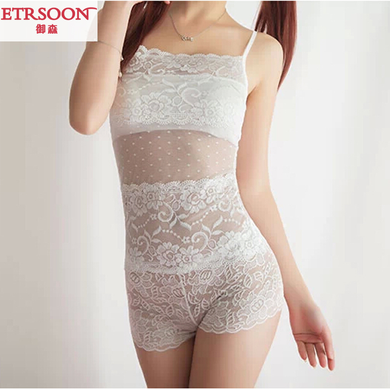 2016 summer new women openwork lace bra straps bottoming small vest wrapped chest anti emptied bra sweet beauty
