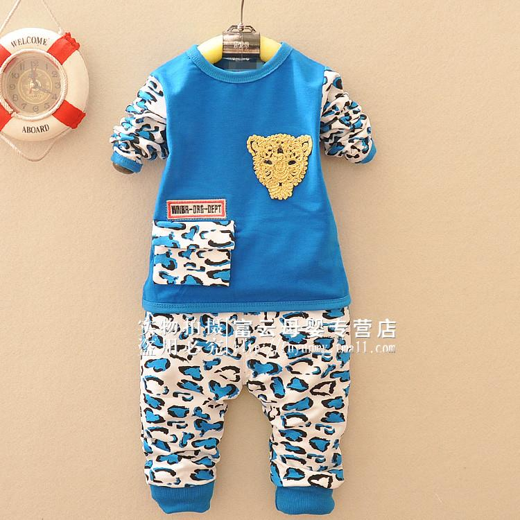 2016 young baby spring new children's clothing baby clothes for men and women 1 years of age 1-2-3-year-old sleeved suit a016