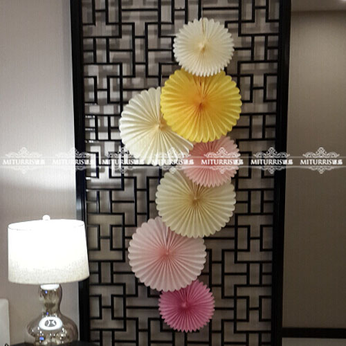 25cm fan flower creative charm wedding arranged marriage room wedding birthday party decoration colorful paper garland paper fan