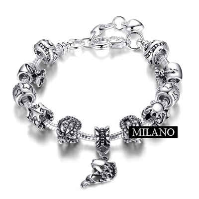 925 sterling silver bracelet pandora elements 73bq52 milan [fine sterling silver elegant beaded crown female accessories