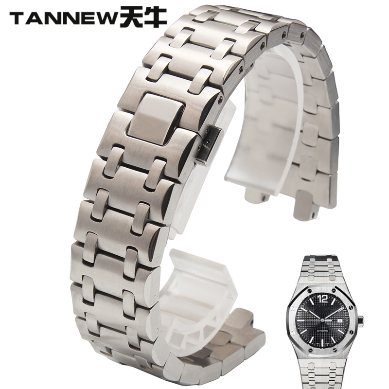 28mm stainless steel strap watch men strip longicorn proxy ap audemars piguet royal oak steel double snaps