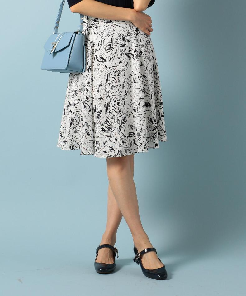 Onward 'cello' pieces ms. autumn and japanese ladies wind leaves printed pattern was thin waist flared skirt a word group