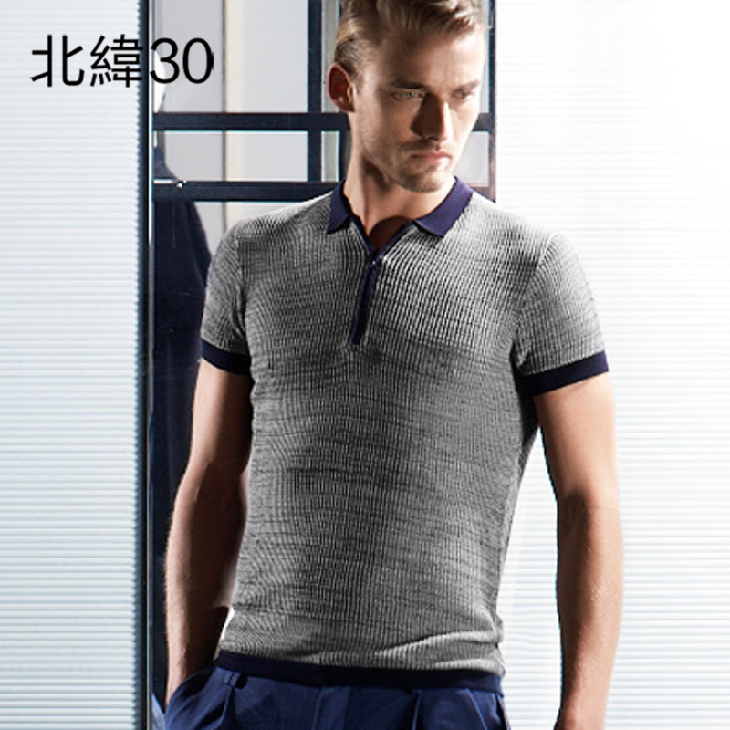 30 n 2016 spring and summer new european and american fashion lapel slim hedging sweater sweater tide male 4010