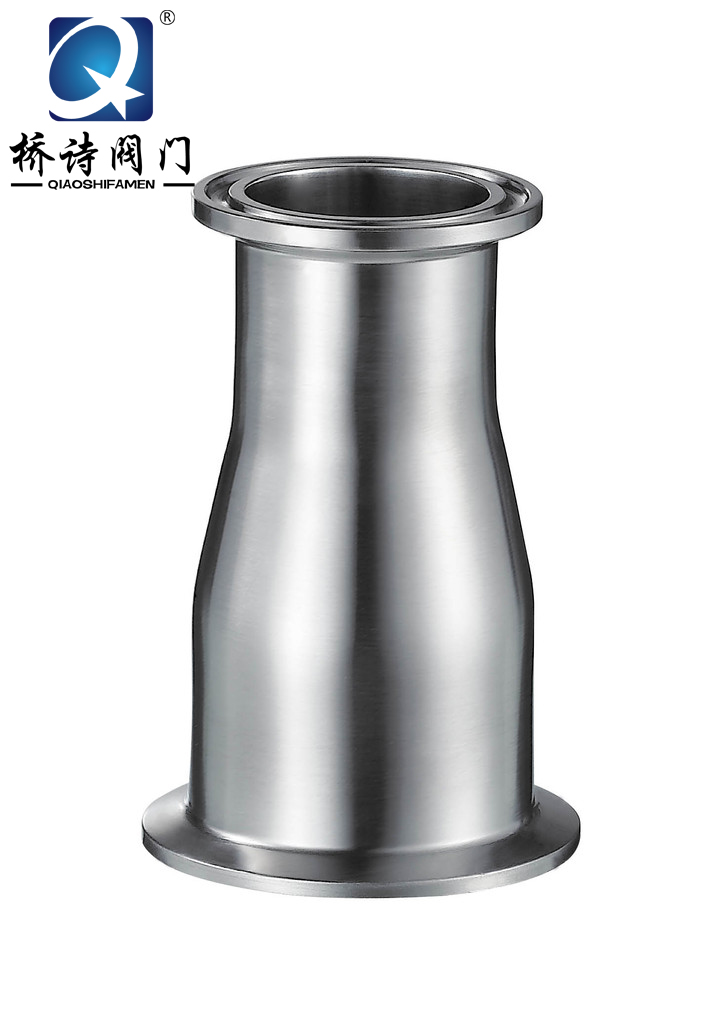 304/316 l stainless steel sanitary mirror quick head size concentric size head reducing straight pipe fittings