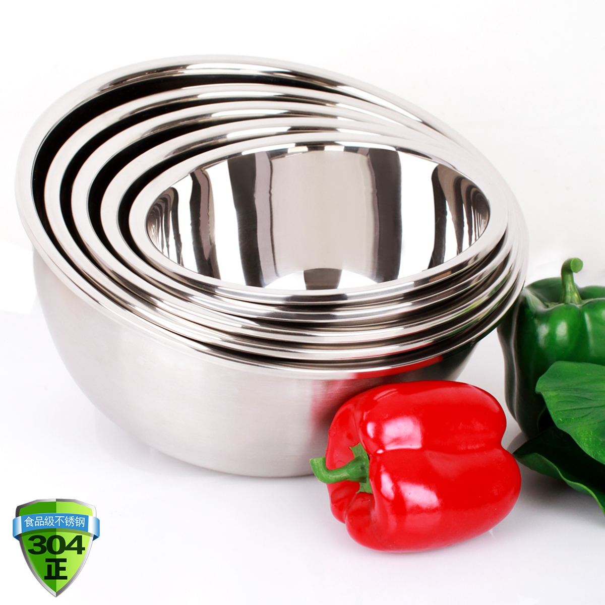 304 stainless steel basin deepened thick bucket bowl beat egg soup pots and pots seasoning vegetables basin basin