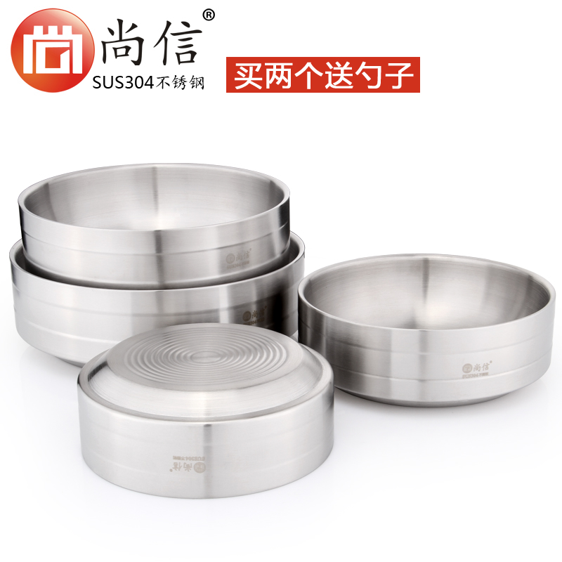 304 stainless steel bowl bowl soup bowl with lid creative home korean double big bowl of instant noodles bowl of ramen bowl bowls