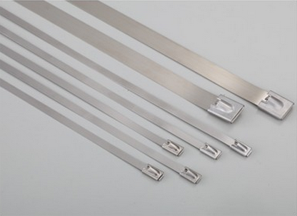 5cfcec8bbc74 Get Quotations · 304 stainless steel cable ties marine metal tie tie  4.6*450 100 40æ ¹a packing
