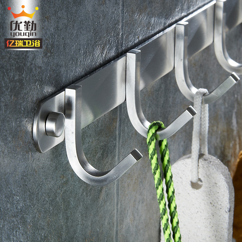 304 stainless steel hook row hook towel clothes hook coat hooks coat hooks kitchen bathroom wall bathroom wall