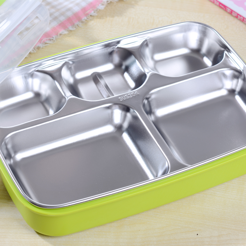 304 stainless steel insulation boxes lunch boxes for children in primary school children against hot lunch box lunch box sealed compartments snack tray