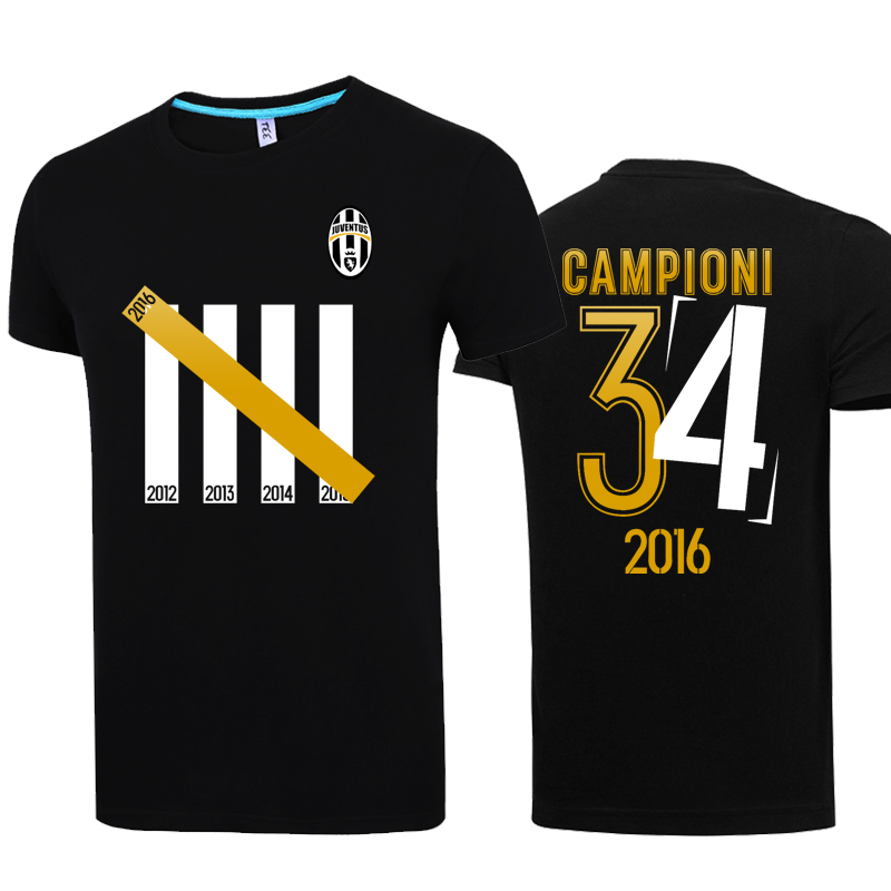 a23418ab93e Get Quotations · 34 summer lovers korean version of soccer serie a juventus  commemorative crown short sleeve t-