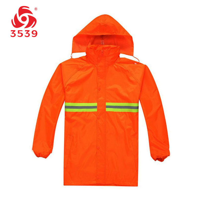 3539 thick reflective split raincoat raincoat outdoor security work virescence motorcycle raincoat raincoat sanitation