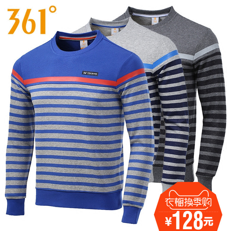 361 degrees authentic sports men pullover sweater 2016 spring new casual sweater pullover 551614608