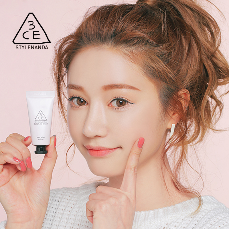 3ce stylenanda official back to baby velvet pore primer before makeup milk