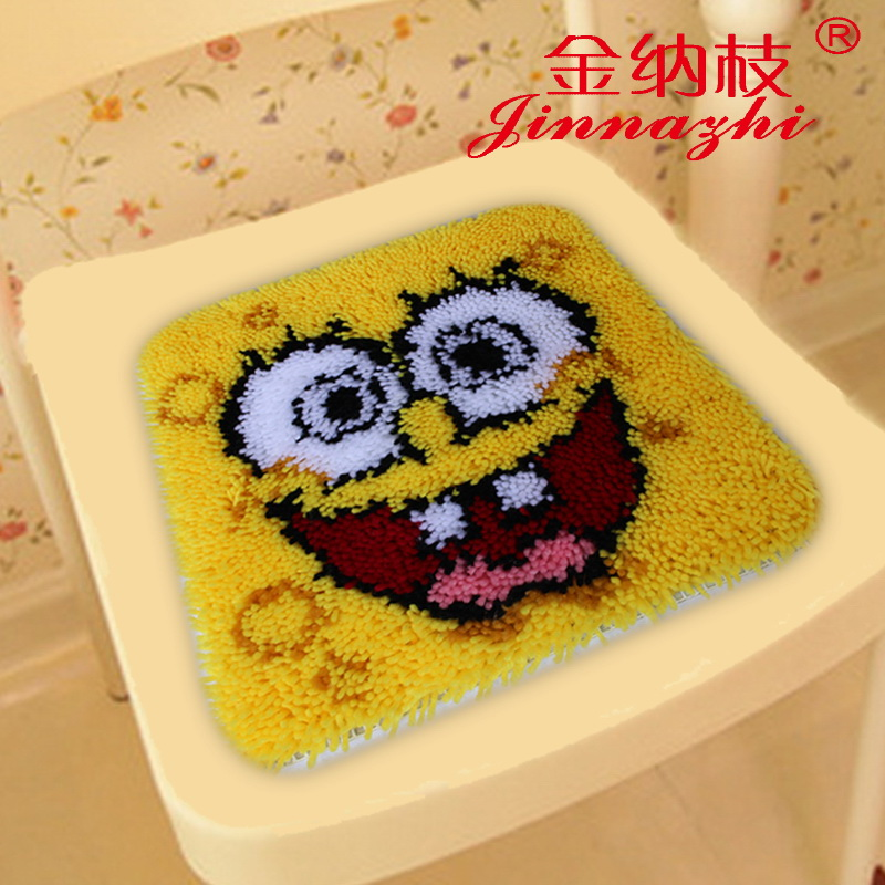 3d stitch new ginna branch wool shag line seat cushion paragraphs embroidered carpet embroidered carpet mats cartoon ZD631
