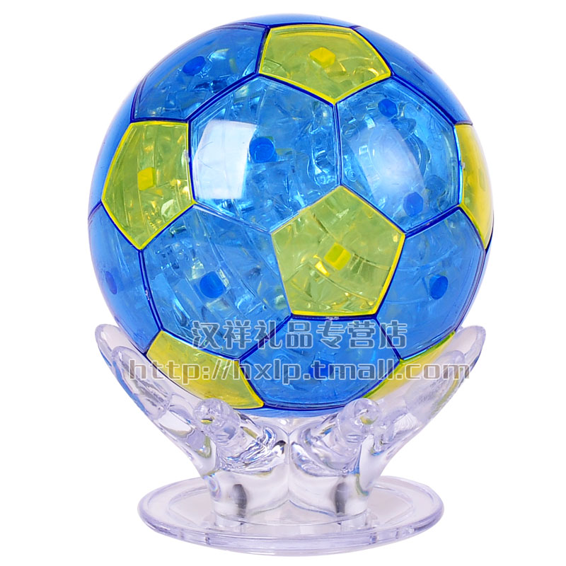 3d three-dimensional crystal puzzle soccer world cup diy puzzle assembled model toy birthday gift for children
