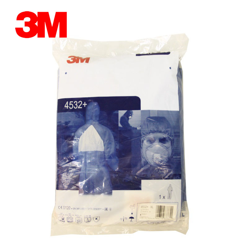 3m 4532 + hooded jumpsuit overalls antistatic protective clothing chemical protective clothing clothes dust particles