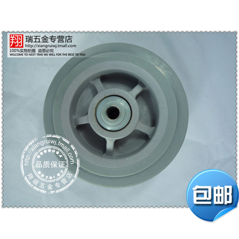 4 4-inch natural rubber caster wheel mute heavier 100MM heavy duty caster wheels industrial equipment wheels