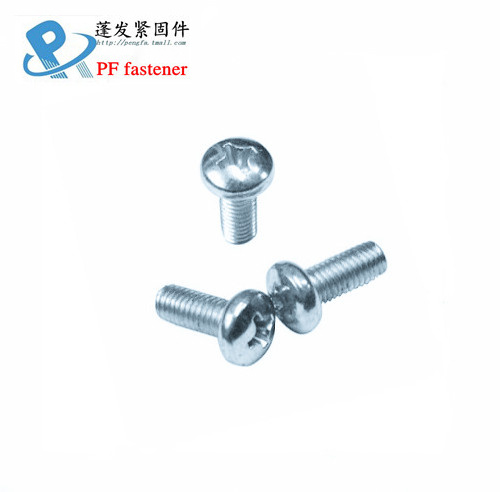 4 #-40/6 #-32 shanghai producing blue zinc plated gb818 phillips pan head screws inch american Round machine