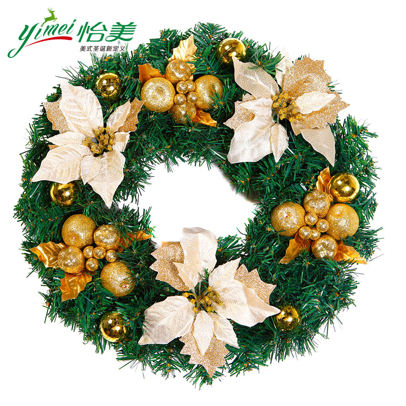 40 cm/50 cm/60cm door hanging christmas wreath decorated christmas window display supplies festive gifts