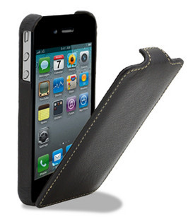 4S germany melkco apple iphone 4 mobile phone sets genuine leather vertical turning sleeve with security multicolor