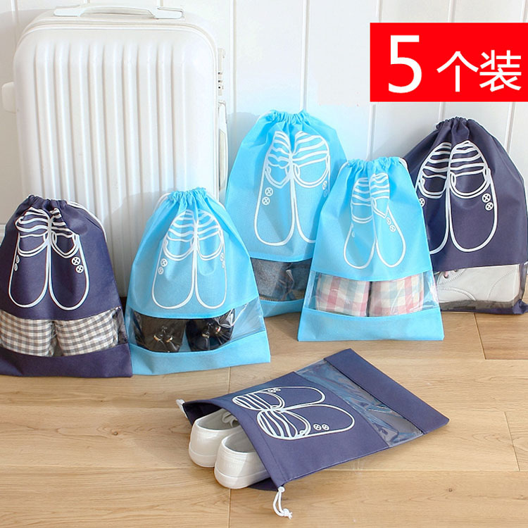 5 loaded transparent dust cover dust bag waterproof travel shoe shoe pouch shoe bag waterproof drawstring pouch beam port shoe spats