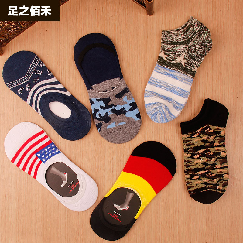 5 pairs of men's dress socks four seasons socks socks male summer shallow mouth to help low socks cotton socks absorb sweat deodorant