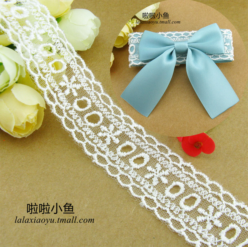 5cm cm white cotton lace embroidery korean korean bow hair accessories hairpin hair accessories handmade diy materials