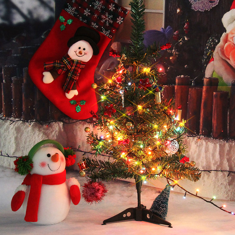 60cm christmas tree decorated christmas tree package desktop mini christmas tree ornaments chinese new year decorations