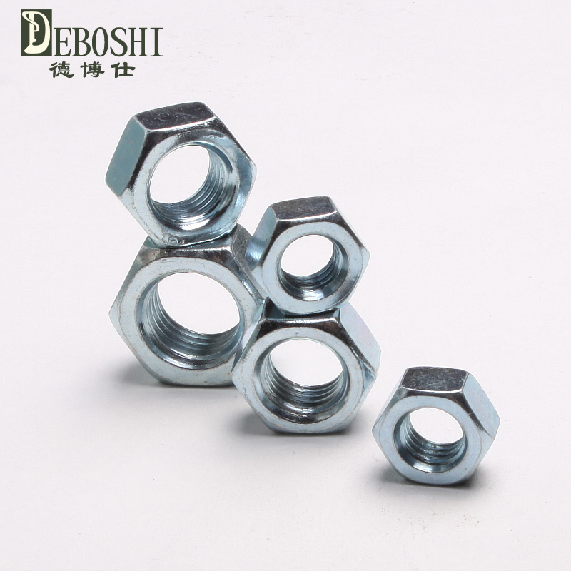 8.8 galvanized hex nut high strength galvanized hex nut nut white zinc nut 8 nut m2-30