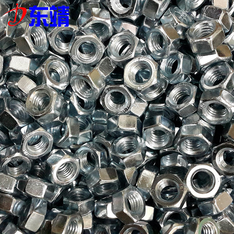 8.8 galvanized hex nut high strength galvanized hex nut nut white zinc nut 8 nut m2-36
