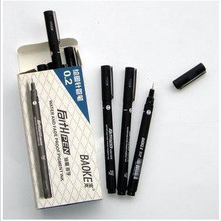 8 shipping baoke pens pen tracing pen comic sketches hook line pen pen stroke 0.05 ~ 0.8
