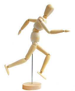 8 sketch comic wooden model wooden dolls wood joints movable wooden puppet who model 20 cm
