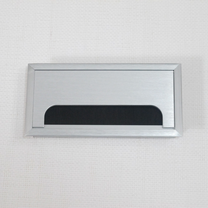 80 * 160mm brushed aluminum threading box computer threading hole with brush alignment hole/cover shipping