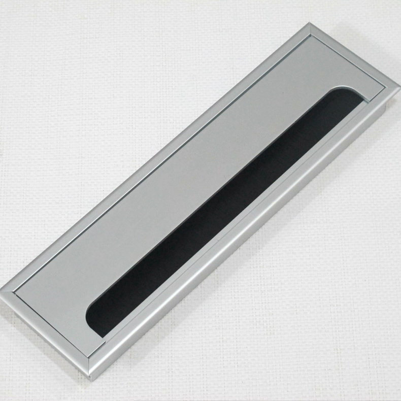 80*280 brushed aluminum threading box computer threading hole with brush threading box alignment hole /Cover shipping