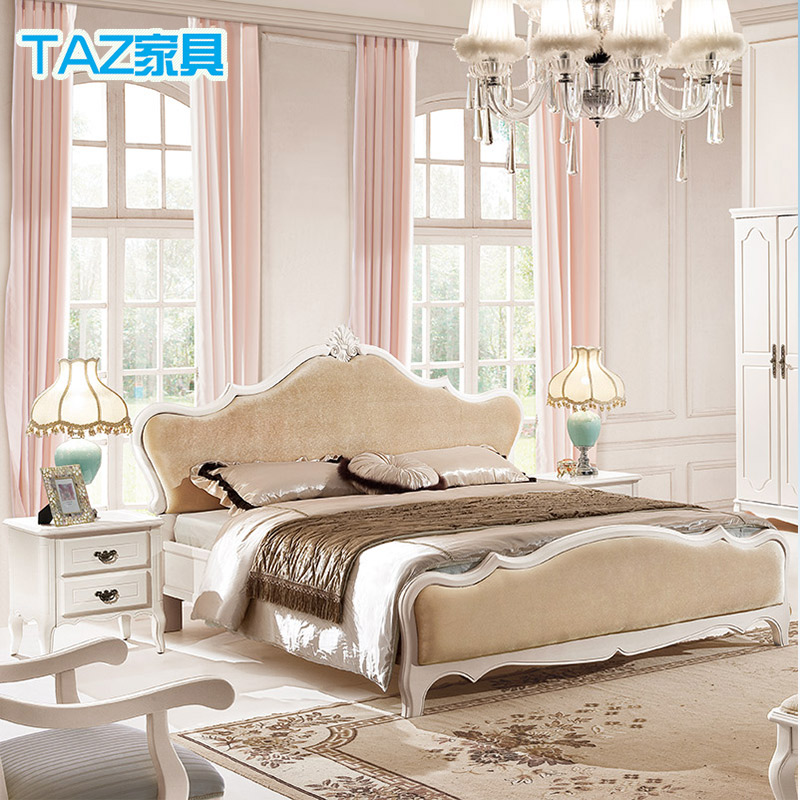 Get Quotations · 8003 Korean Countryside Bed Continental Double Bed 1.8 M Bed  Canopy Bed Wood Bed