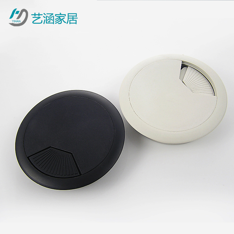80mm aperture han yi go box cover line manhole cover line manhole covers computer desk hole cover black gray box