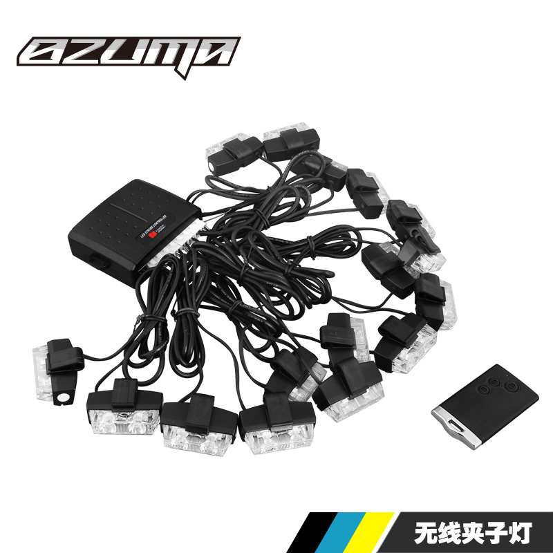 8zuma car in the network strobe wireless remote control a drag eight clip light super bright waterproof drag strip sixteen to clear the way light