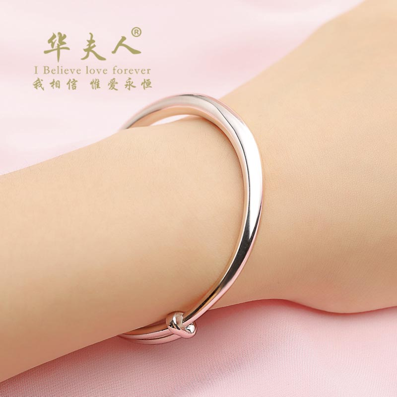 999 sterling silver bracelet bracelet female models glossy silver bracelet couple a pair of lettering to send his girlfriend to send mom mother birthday gift ideas for men