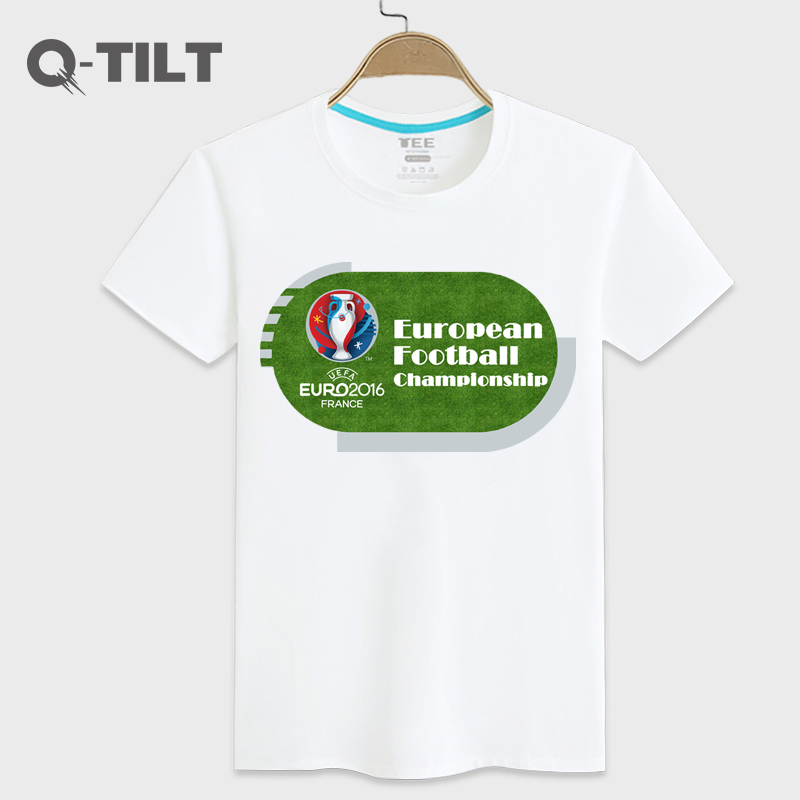 A full tilt 2016 european cup personalized fashion trend loose casual basketball ball star short sleeve cotton t-shirt