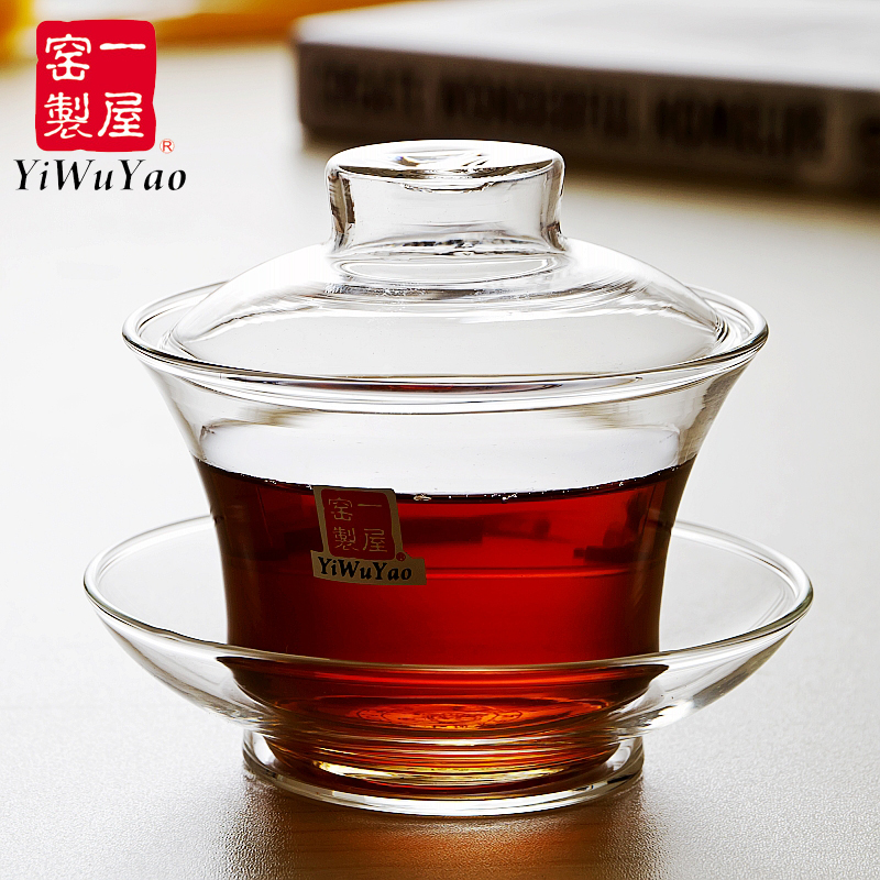 A house kiln heat resistant glass cups covered tea bowls kung fu tea 100 ml FH-333