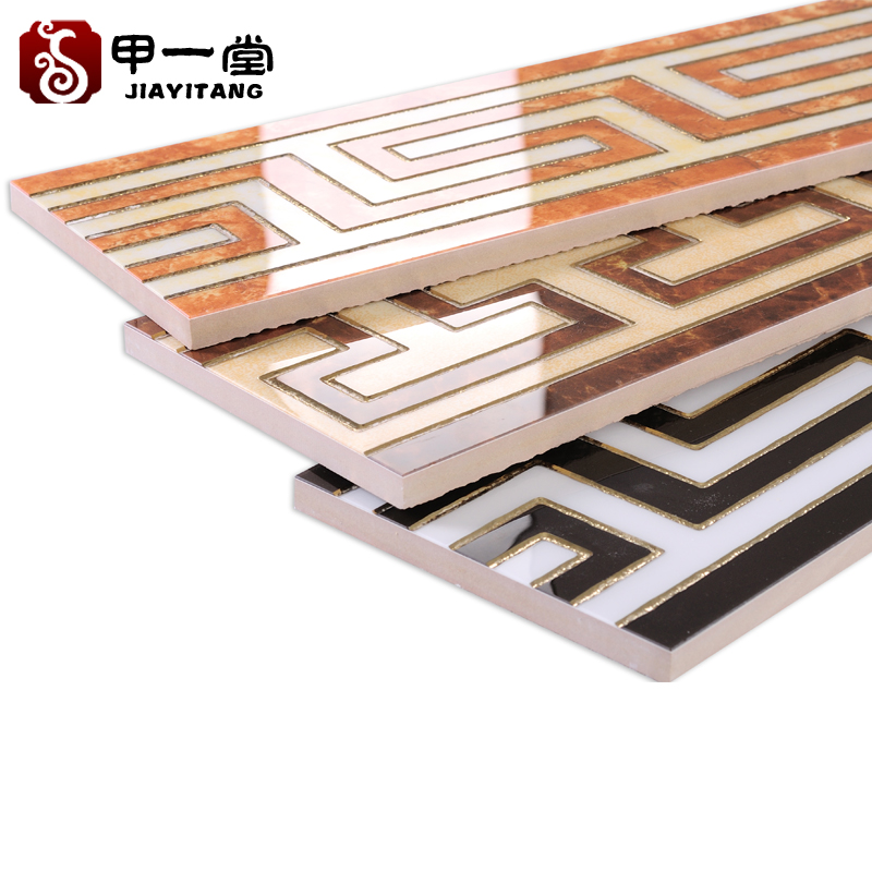 A one tile polished crystal tile wave wire waveguide line border line skirting the foot line wall tiles line