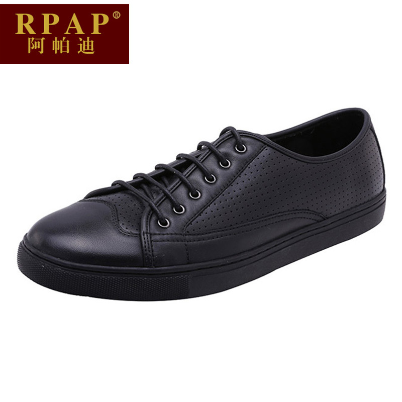 A paddy rpap lace round comfort shoes to help low wear and men's sports and leisure shoes men's shoes in summer