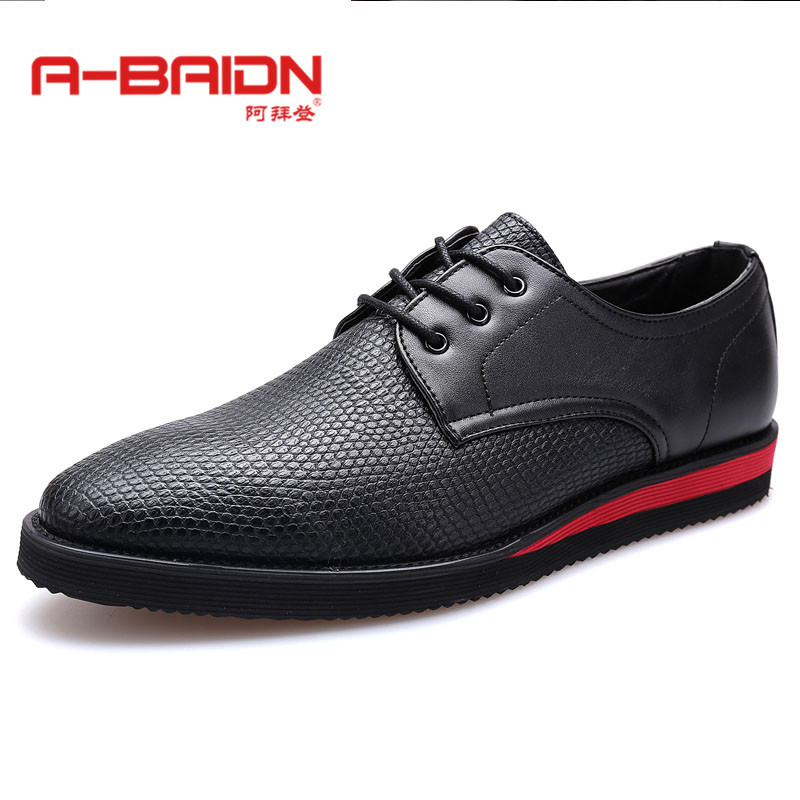 Abaidn/o biden autumn and winter to help low flat lace tip of england men's business casual leather shoes 115