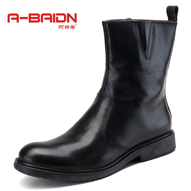 Abaidn/o biden autumn casual high shoes thick crust martin boots with round leisure shoes tide shoes 918