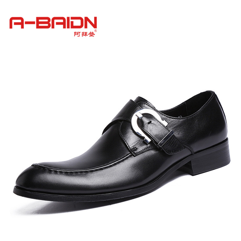 Abaidn/o biden autumn male korean version of casual shoes lace korean version of the british style business suits sets foot shoes 9
