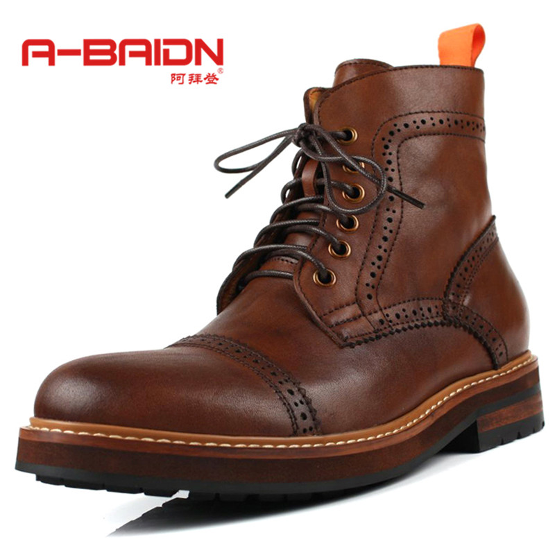 Abaidn/o biden shirtwaist martin boots england autumn and winter men's casual men to do the old retro boots boots 9