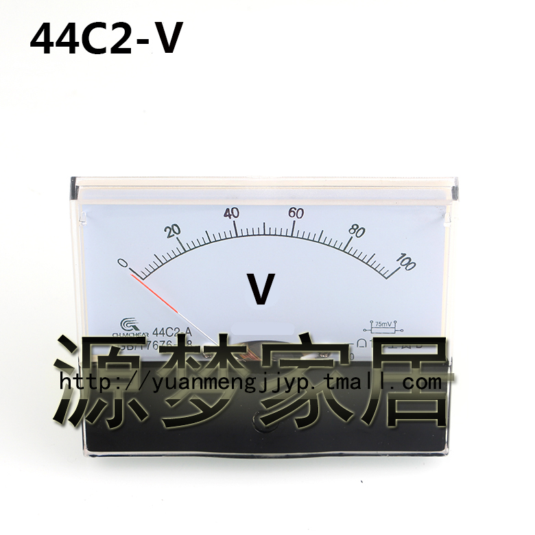 Ac dc voltmeter 44c2 pointer mechanical meter 44L2  v