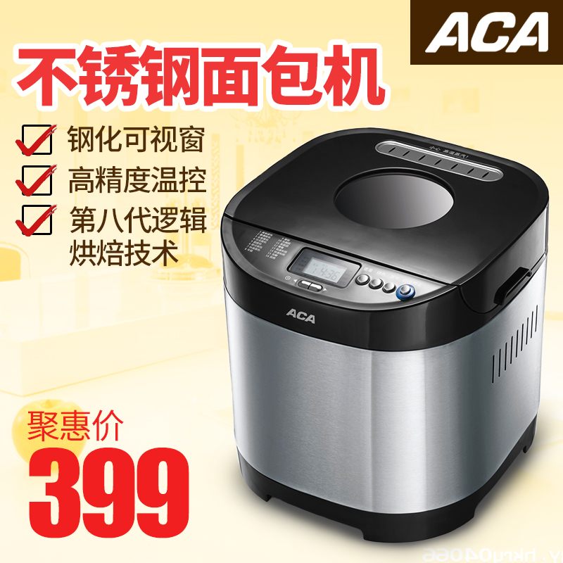 Aca/north american electric ab-sn6513m intelligent automatic household toaster stainless steel toaster toaster genuine mail