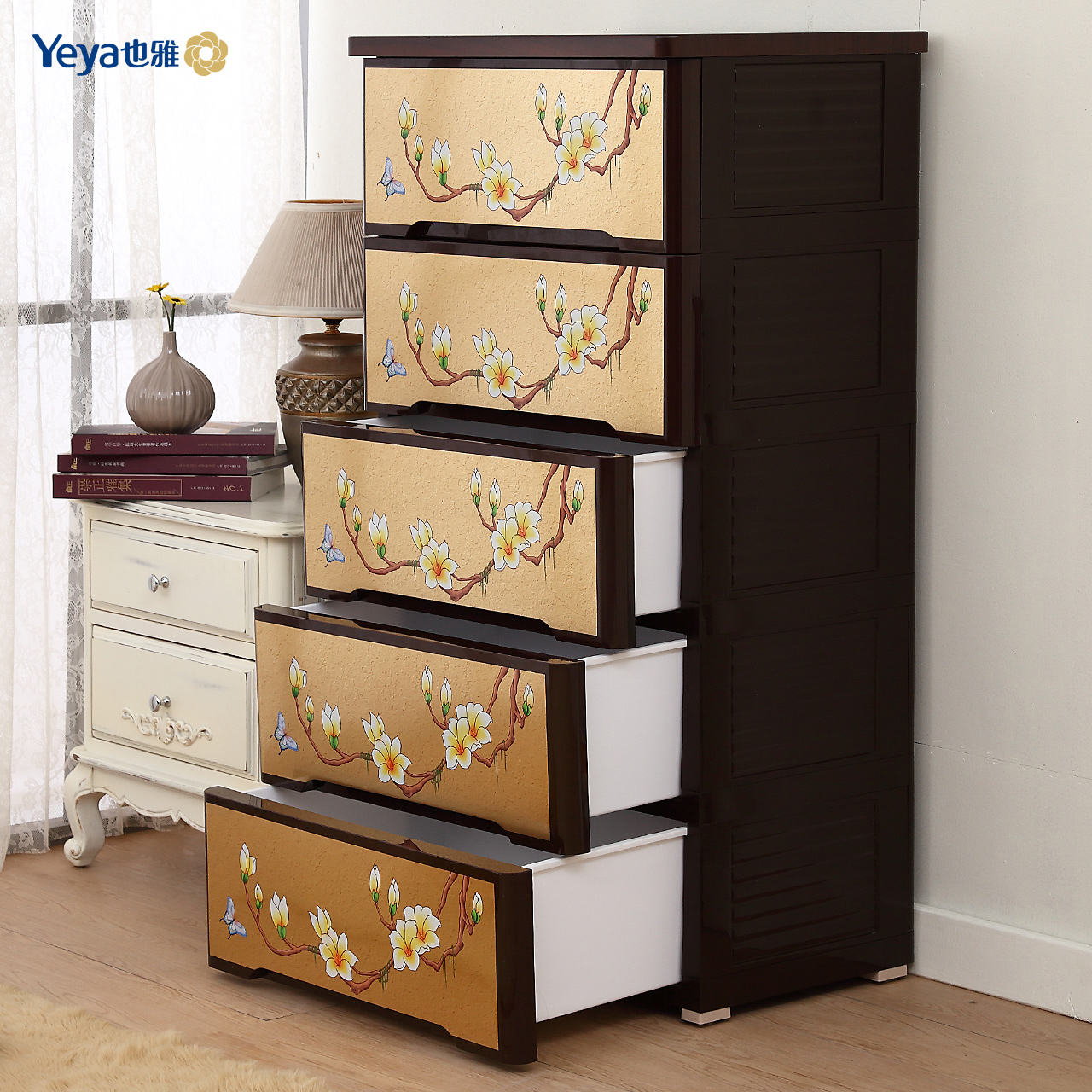 Accor also yeya blossoming in the famous wooden roof plastic pumping drawer storage cabinets lockers chest of drawers chest of drawers Box